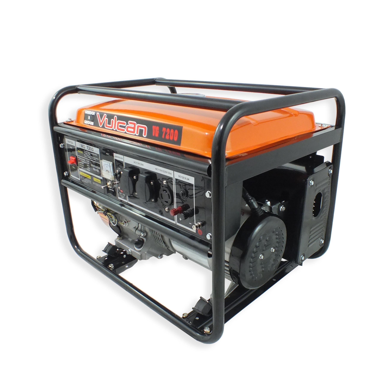 Gerador VG7200 Vulcan Gasolina 4T 15HP 7200W Bivolt com Partida Manual